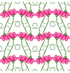 Carnation pattern vector