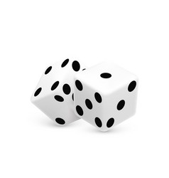 casino dice on a white background vector image