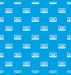 cassette tape pattern seamless blue vector image
