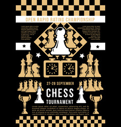 Chess game open tournament vector