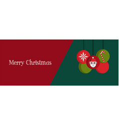 Christmas banner cover or greeting card vector