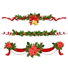 Christmas festive decoration vector