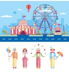Circus and Clowns vector image