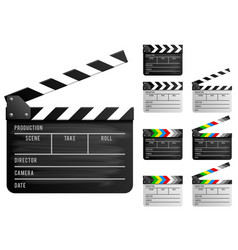 clapper board set vector image