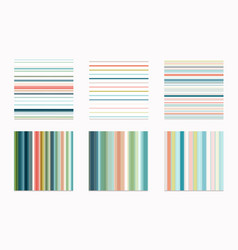 collection stripe seamless patterns for design vector image