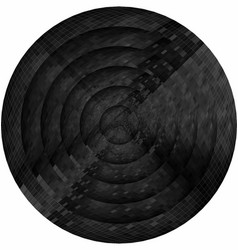 Concentric black circles in mosaic vector