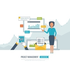 Concept for project management investment vector image