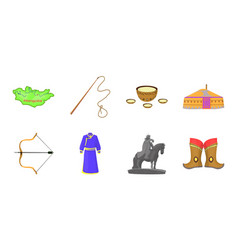 country mongolia icons in set collection for vector image