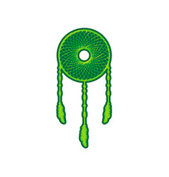 dream catcher sign lemon scribble icon on vector image