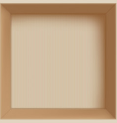 Empty open cardboard box for delivery vector