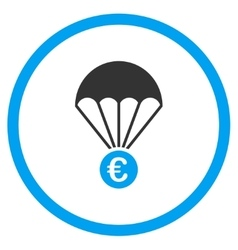 Euro Parachute Circled Icon vector