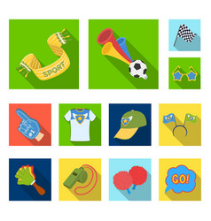 Fan and attributes flat icons in set collection vector