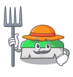 Farmer scrub brush character cartoon vector