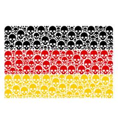 Germany flag pattern of skull items vector