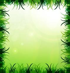 Gras frame vector image