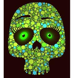 Green skull vector image