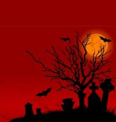 halloween landscape vector image