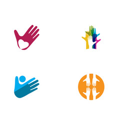 hand care icon business vector image