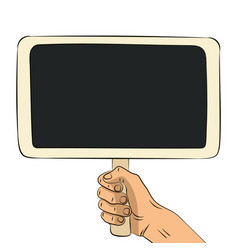 hand drawn wooden chalkboard vector image