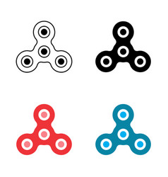 Hand spinner or fidget icon vector