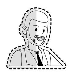 Happy businessman icon image vector