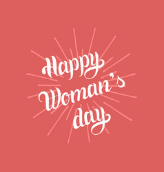 happy international womans day greeting card vector image