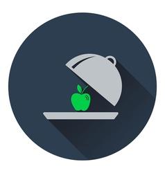 Icon of Apple inside cloche vector image