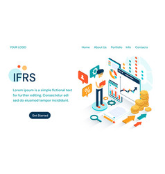 Ifrs - international financial reporting standards vector