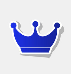 King crown sign new year bluish icon with vector