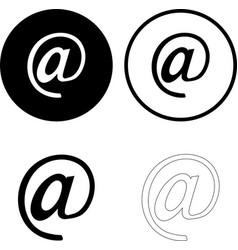 mailing set icon isolated on white background vector image