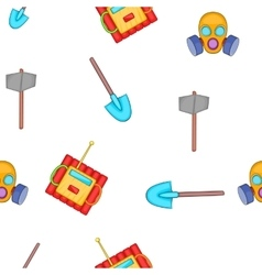 Mining elements pattern cartoon style vector