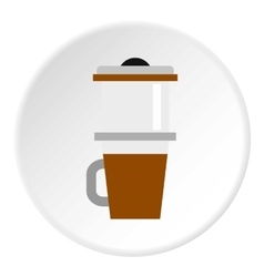 Mug for coffee icon flat style vector image