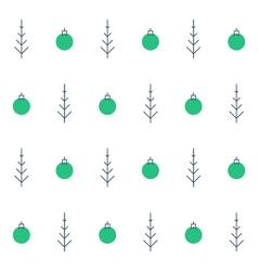 New Year Christmas seamless pattern Xmas vector image