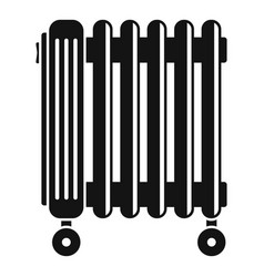 Oil radiator icon simple style vector