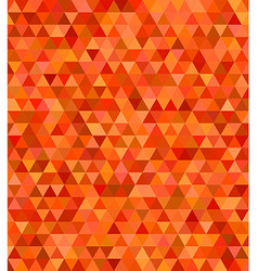 Orange abstract regular triangle mosaic background vector