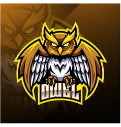 Owl sport mascot logo design vector
