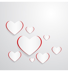 Paper Hearts Abstract Background vector image