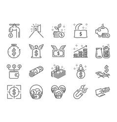 passive income line icon set vector image