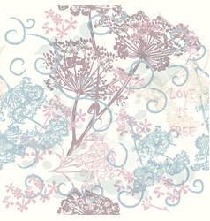 Pattern for wallpaper design with flowers vector