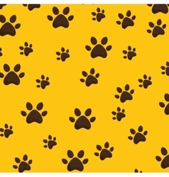 paw footprint background pattern icon vector image