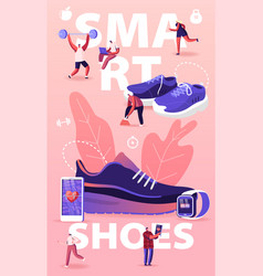People wear smart shoes concept sports people vector