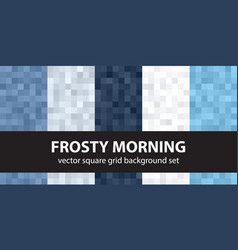 Pixel pattern set frosty morning seamless vector