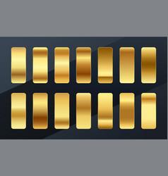 Premium golden gradients swatches palette set vector
