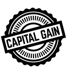 Print capital gain stamp on white vector