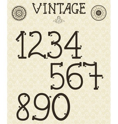 Retro Self Made numbers vector image