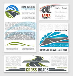 Road service and building company templates vector