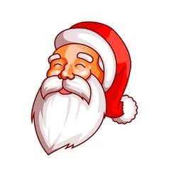 Santa claus emotions Part of christmas set vector image