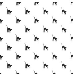 Scary cat pattern seamless vector