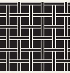 Seamless woven stripes lattice pattern modern vector