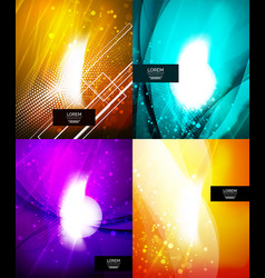 Set of shiny glittering abstract backgrounds vector